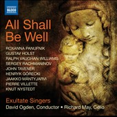 All Shall Be Well - works by Panufnik, Holst, Rachmaninov, Tavener, Gorecki, Villette, Nystedt / Richard May, cello