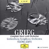 Grieg: Complete Music with Orchestra / Järvi, Gothenburg SO