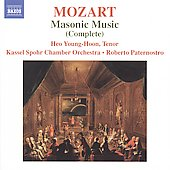 Mozart: Complete Masonic Music / Paternostro, Young-Hoon, Kassel Spohr CO