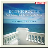 In the South: Works for string quartet by Wolf, Puccini, Verdi, Turina, Piazzolla, Paganini / Brodsky Quartet