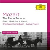 Mozart: The Piano Sonatas; Piano Music for 4 Hands / christoph Eschenbach; Justus Frantz, pianos [8 CDs]