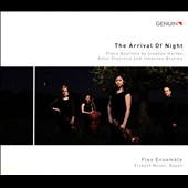 The Arrival of Night - Stephen Hartke: The King of the Sun (1952); Piazzolla: Three Devil Pieces; Brahms: Piano Quartet No. 3 / Flex Ensemble