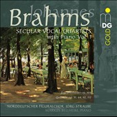 Brahms: Secular Vocal Quartets with Piano, Vol. 1 / Norddeutscher Figuralchor, Markus Bellheim, piano