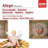 Allegri: Miserere;  Gabrieli, et al / Cleobury, Willcocks