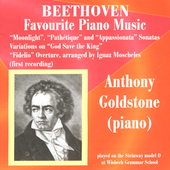 Beethoven: Favorite Piano Music / Anthony Goldstone