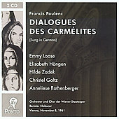 Poulenc: Dialogues des Carm&#233;lites / B. Klobucar, E. Loose