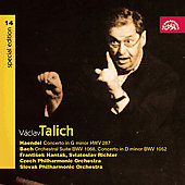 Vaclav Talich Special Edition Vol 14 - Handel, Bach