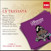 Verdi: La Traviata / Renata Scotto, Alfredo Karaus, Renato Bruson, Sarah Walker. Muti