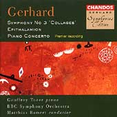 Gerhard: Symphony no 3, Concerto for Piano / Bamert, et al