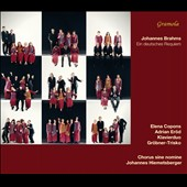 Brahms: A German Requiem (composer's version for piano 4-hands) / Elena Copons, Adrian Erod, Grobner-Trisko Piano Duo