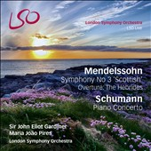 Mendelssohn: Symphony No. 3 'Scottish'; Overture - The Hebrides; Schumann: Piano Concerto / Maria Joao Pires, piano [SACD+Blu-Ray audio/video]