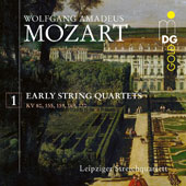 Mozart: Early String Quartets, Vol. 1 / Leipziger Streichquartett
