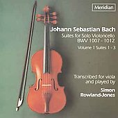 Bach: Suites for Solo Violoncello Vol 1 / Rowland-Jones