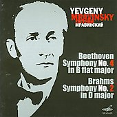 Beethoven: Symphony no 4;  Brahms: Symphony no 2 / Mravinsky, Leningrad PO