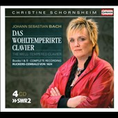 Bach: Well-Tempered Clavier Books 1 & 2 / Christine Schornsheim, Harpsichord [4 CDs]