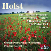 Holst: Cotswolds Symphony; Walt Whitman Overture; A Hampshire Suite / Bostock