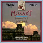 Mozart: Symphonies Vol 1 / Kehr, Mainz Chamber Orchestra