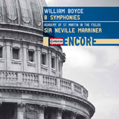 William Boyce (1711-1779): 8 Symphonies / Academy of St. Martin in the Fields, Sir Neville Marriner