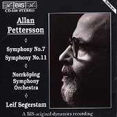 Pettersson: Symphonies no 7 & 11 / Segerstam, Norrk&#246;ping SO