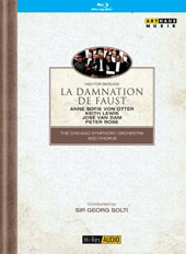 Hector Berlioz: La Damnation de Faust / Anne Sofie von Otter; Keith Lewis, José Van Dam, Peter Rose. Chicago SO, Georg Solti (live, Royal Albert Hall, 1989) [Blu-ray]
