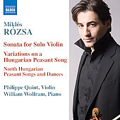 Rózsa: Music for Violin and Piano
