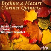 Barhms & Mozart: Clarinet Quintets / David Campbell, clarinet; Bingham Quartet
