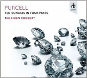 Purcell: Ten Sonatas in Four Parts / The King's Consort