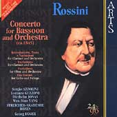 Rossini: Concerto for Bassoon, etc / Egger, Akademie Bozen