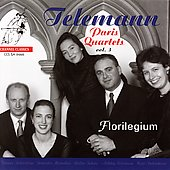 Telemann: Paris Quartets Vol 3 / Florilegium
