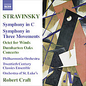 Stravinsky: Symphony in C, Symphony in 3 Movements, etc / Craft, Philharmonia Orchestra, et al
