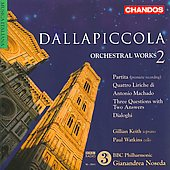 Luigi Dallapiccola: Orchestral Works 2
