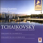 Peter Tchaikovsky: String Quartet No. 1 in D minor, Op. 11; String Quartet No. 3 in D flat minor, Op. 30