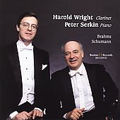 Brahms: Clarinet Sonatas;  Schumann / Wright, Serkin