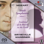 Mozart: Youth Symphonies Vol 3 / Marriner, et al