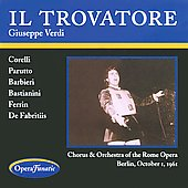Verdi: Il Trovatore / Corelli, De Fabritis, et al