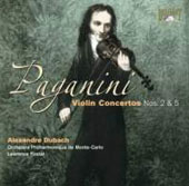 Paganini: Violin Concertos Nos. 2 & 5 / Alexandre Dubach, Monte Carlo Philharmonic