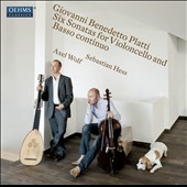 Giovanni Platti: 6 Sonatas for Cello & Continuo / Sebastian Hess, baroque cello; Axel Wolf, lute and theorbo