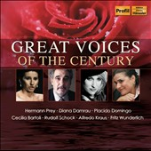 Great Voices of the Century / Prey, Damrau, Domingo, Bartoli, Schock, Kraus, Wunderlich