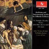Anthems and Instrumental Works by Orlando Gibbons / Butt