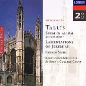 Tallis: Spem in Alium, Lamentations / King's College Choir