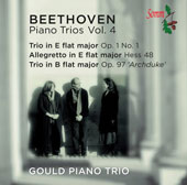 Beethoven: Piano Trios, Vol. 4 - Trio, Op. 1/1; Allegretto in E flat major; Trio Op. 97 'Archduke' / Gould Piano Trio