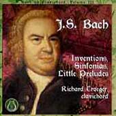 Early Music - Bach on Clavichord Vol 3 / Richard Troeger