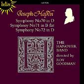 Haydn: Symphonies no 70, 71, 72 / Roy Goodman, Hanover Band