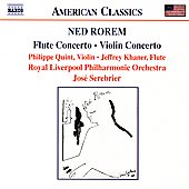 American Classics - Rorem: Flute Concerto, etc / Serebrier