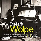 Stefan Wolpe: Einstein's Address about Peace, etc