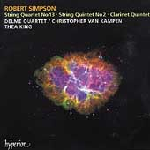 Simpson: String Quartet, String Quintet, Clarinet Quintet