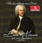 'By the Grace of Bach' - J.S. Bach: Partita for Lute BWV 997; Violin Partita BWV1004; Marin Marais: Pieces de viole, Book 2, Suite No. 1 / José Luis Martinez, guitar