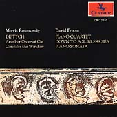 Rosenzweig: Diptych;  Froom: Piano Quartet, etc / Garth