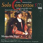 Bach: Solo Concertos Vol 5 / Musica Alta Ripa