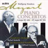 Mozart: Concertos for Piano no 23 and 27 / Curzon, Kubelik